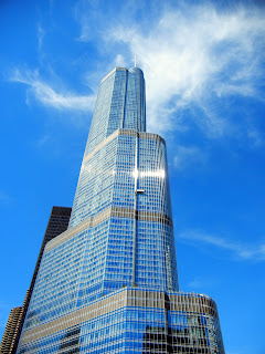 Donald Trump building on Michigan Avenue in downtown Chicago, Illinois