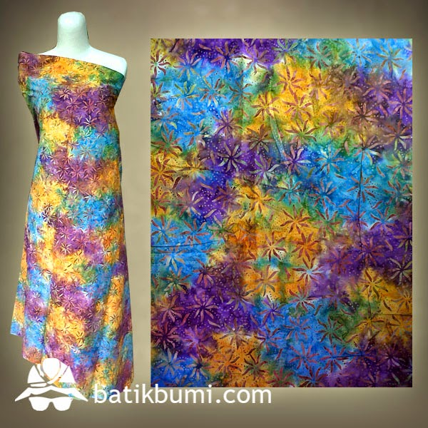 Kain BATIK CAP SMOKE motif krisan  jual batik murah Batik modern