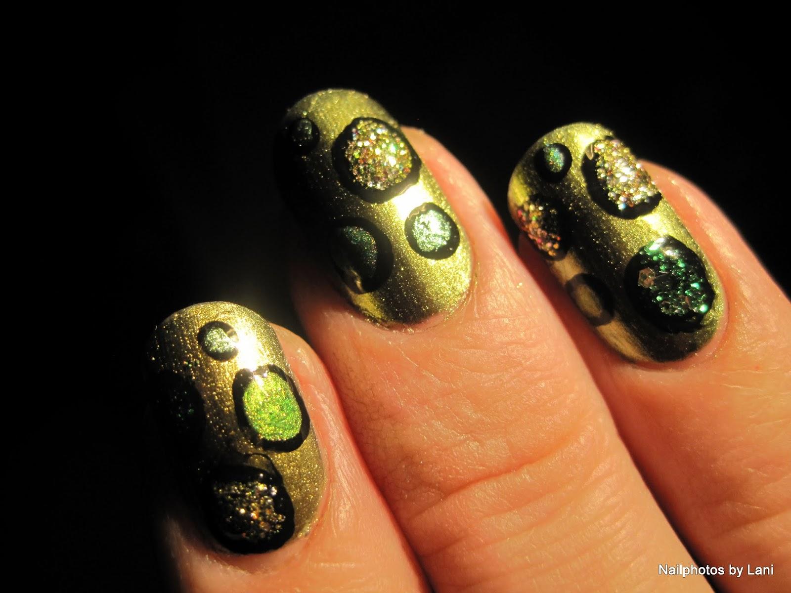 Nailphotos by Lani: Green Depression Awareness Nail Art