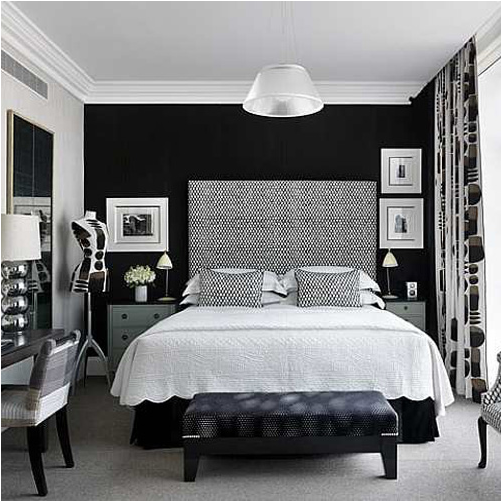 Teen S Bedroom With Feature Grey Wall And Monochrome Bed Linen: Key Interiors By Shinay: Glamour Teenage Girl Room Ideas
