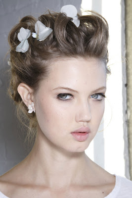 Flower-Accented Updos