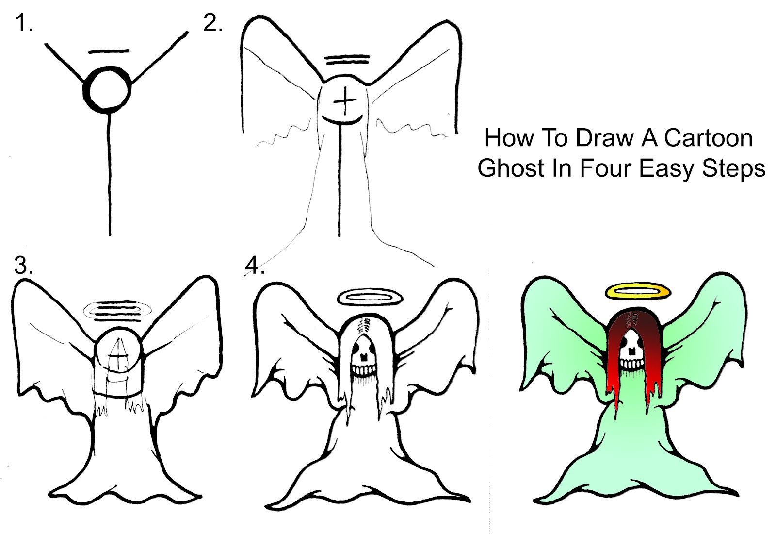 Uncategorized How To Draw A Ghost Step By Step how to draw a cartoon ghost step by daryl hobson artwork step