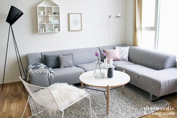 Salon blanco y gris de que color los complementos - Salon color gris ...