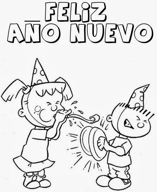 Dibujos de Año Nuevo para colorear ~ Dibujos para Niños