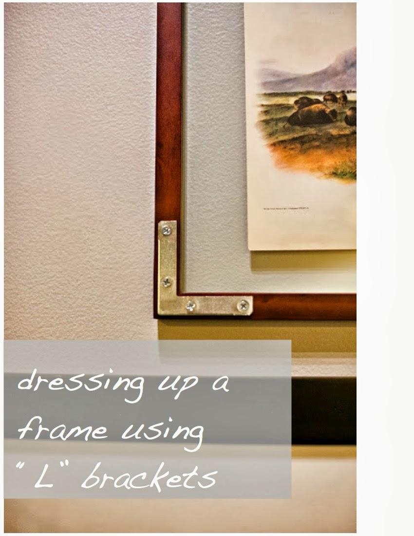 design dump: dressing up a frame with metal L brackets