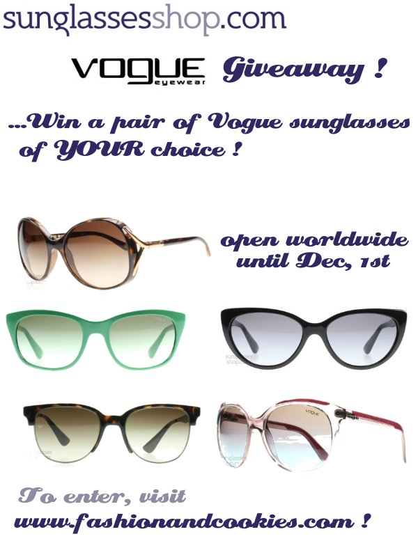 Fashion and Cookies, Sunglassesshop.com Vogue giveaway