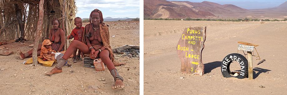 Ynas Reise Blog | Himbafrauen mit Kindern bei Purros in Namibia