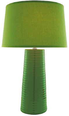 Lite Source LS-20830GRN Ashanti 1 Light Ceramic Table Lamp, Green With Fabric Shade