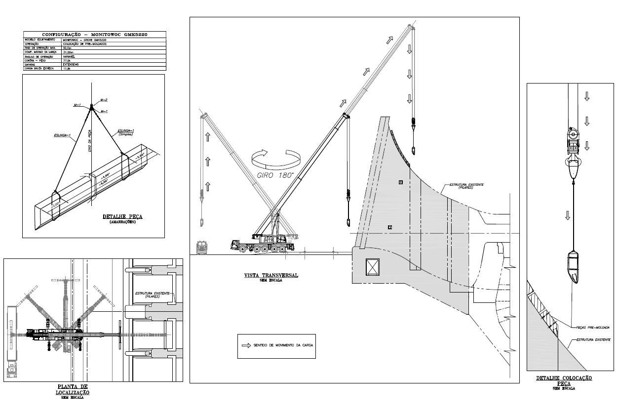 Imagens de #383838 Relaçãode eslingas e acessórios com detalhes da montagem das  1252x850 px 3442 Bloco Cad Acessorios Banheiro