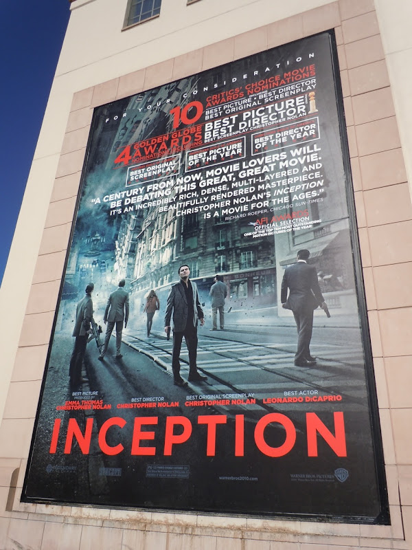 Inception Golden Globes billboard