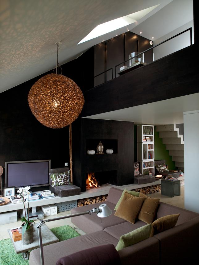 Die-Wohngalerie: Wohnen in Schwarz-Grün in Stockholm