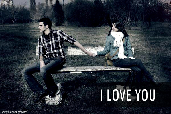 I Love You Wallpaper Girl And Boy : Alone Girl and boy Facebook covers