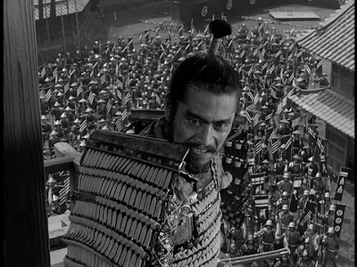 toshiro mifune in akira kurosawa's throne of blood