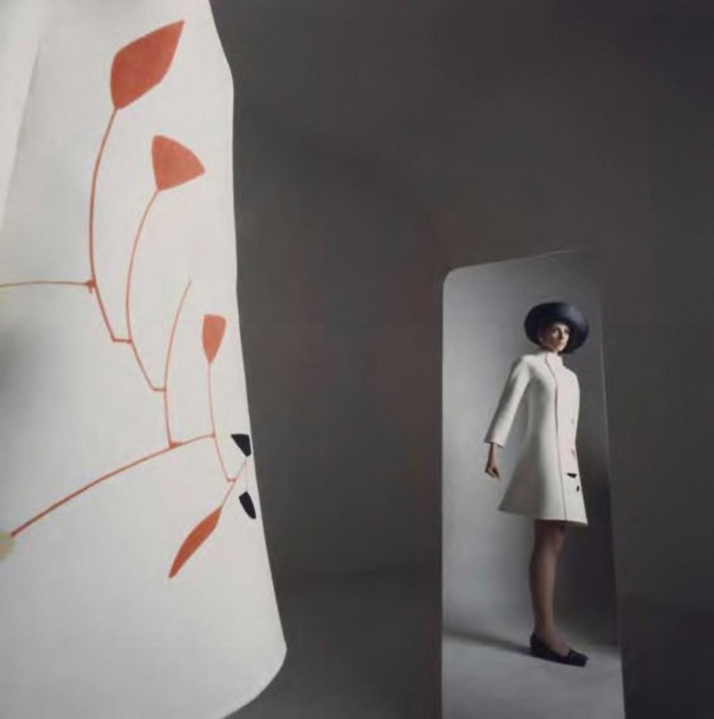 Mila Schon design inspired by Alexander Calder's Mobiles photographed by Ugo Mulas