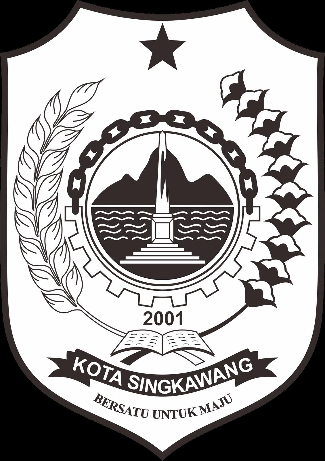 Logo Kota Singkawang Hitam Png 1130 1600