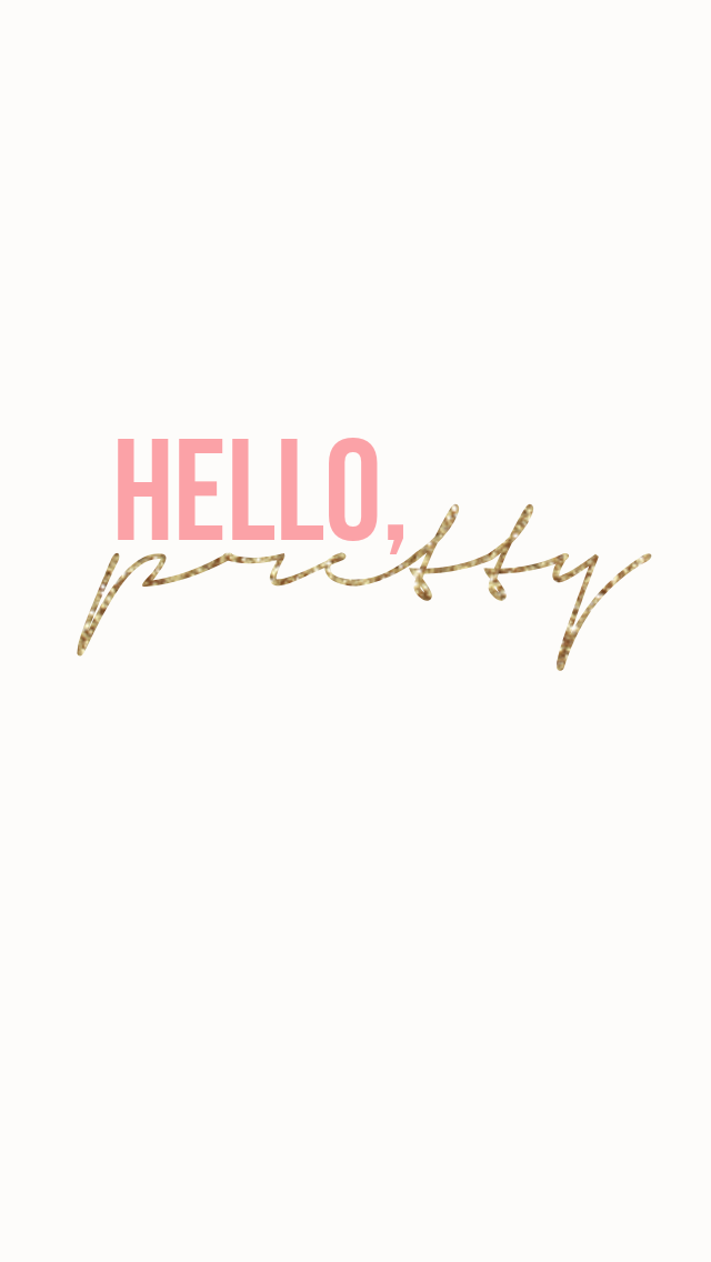 Hello, pretty printable from Endlessly Beloved