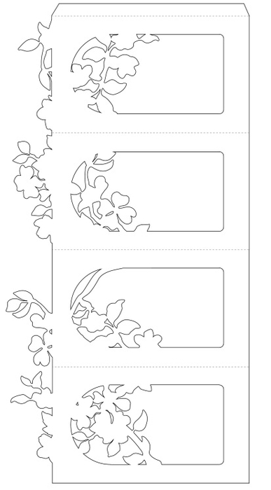 Шаблоны фонариков из бумаги