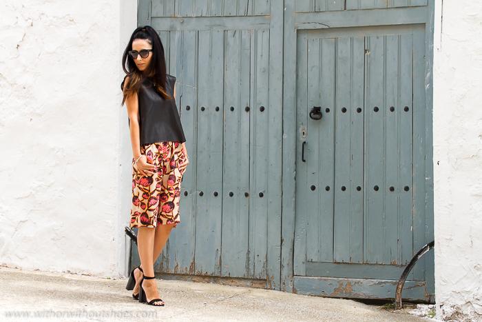 Blogger de moda de Valencia con las uúltimas tendencias pantalones culottes
