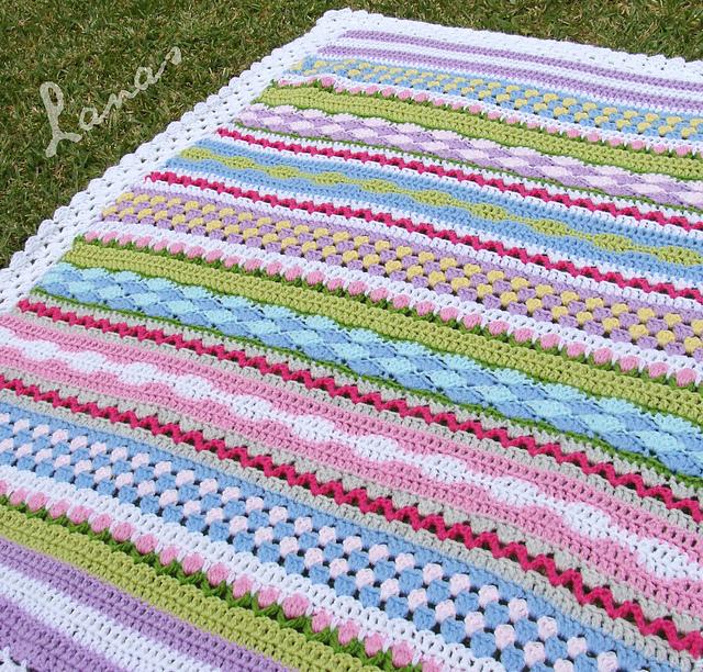 Free Crochet Thermal Blanket Pattern  : tangled happy: Fantasy Blanket