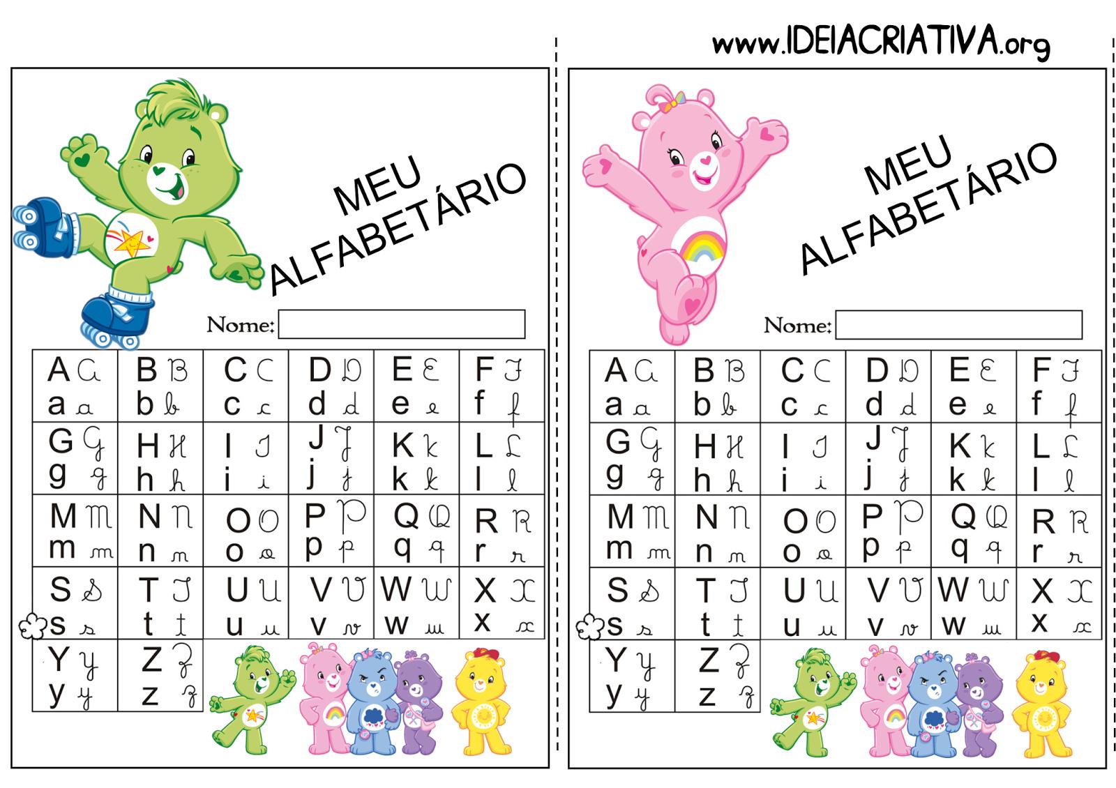 Alfabetário Ursinhos Carinhosos