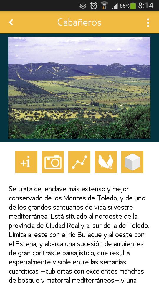 Parque Nacional Cabañeros Aplicación Movil