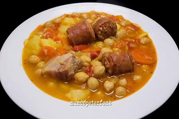 C meme a recetas garbanzos con chorizo al estilo de la for Cocinar garbanzos con chorizo