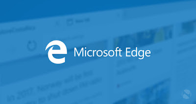 Microsoft Edge browser logo web page  background
