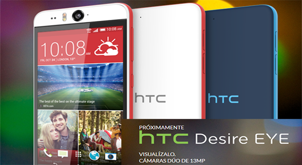 HTC Desire Eye Smartphone creado para super Selfies