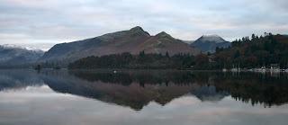 Mountains reflected in Derwentwater
