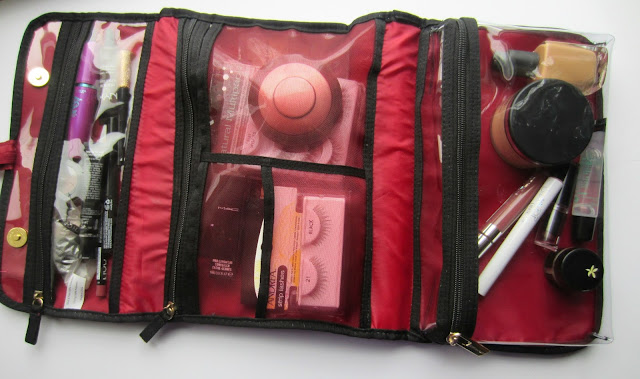 wnw comfort zone nars sheer glow demi wispies mascara mac concealer blush travel makeup bag