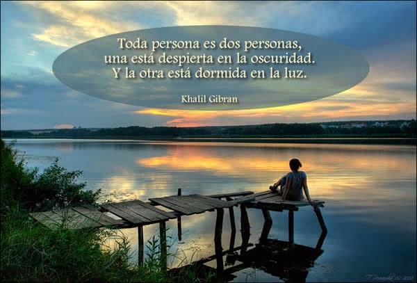 Una cita de Khalil Gibran