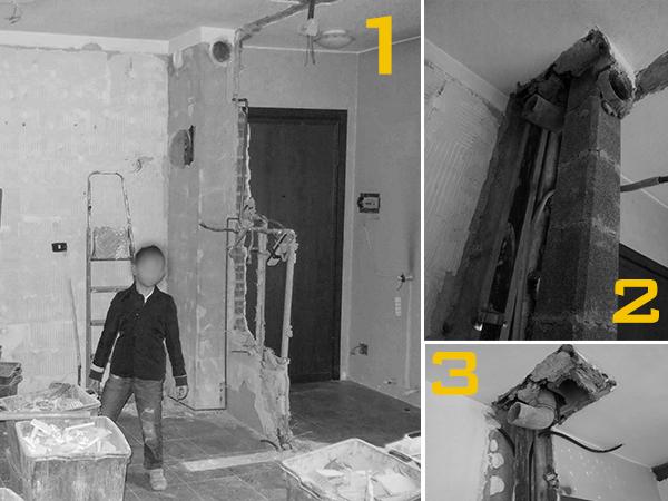 Demolizione canna fumaria per aumentare la superficie dell'appartamento