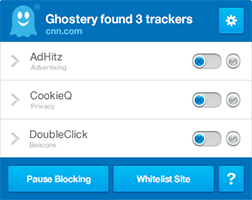 Ghostery - Gestion cookies CNIL