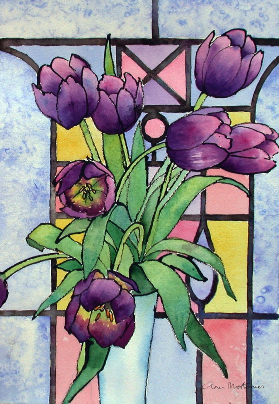 Painting On Glass Windows : Ann mortimer s painting february