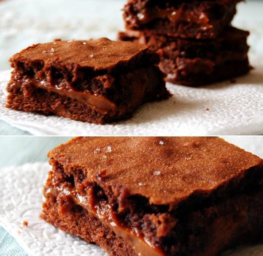 thebakedbeen: salted dulce de leche brownies