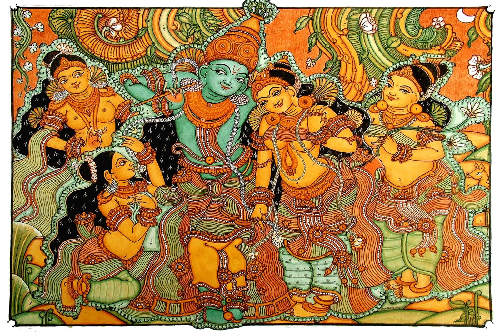 Heritage of india kerala mural paintings for Mural painting images