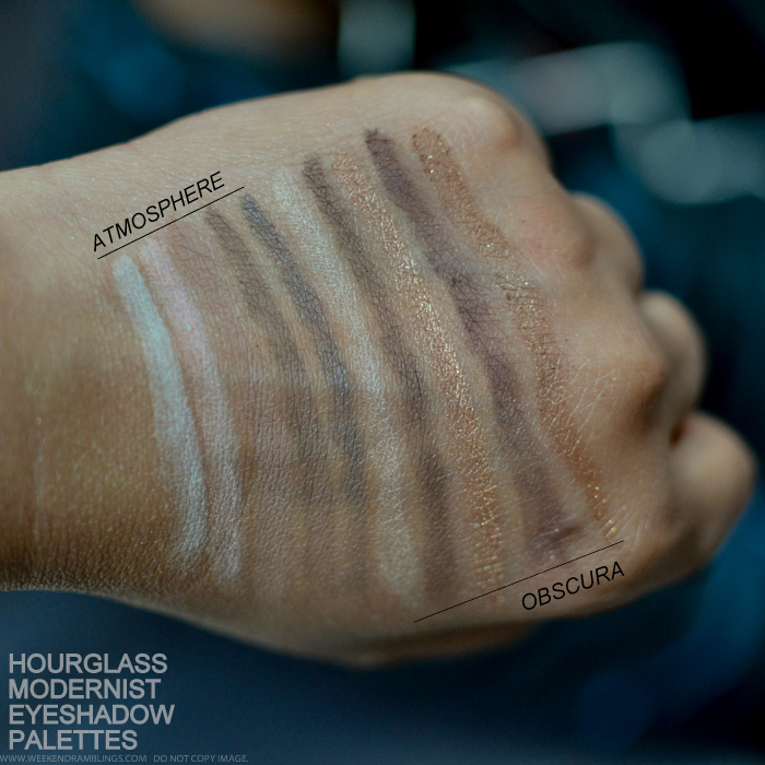 Hourglass Modernist Eyeshadow Palettes Atmosphere Obscura Makeup Swatches