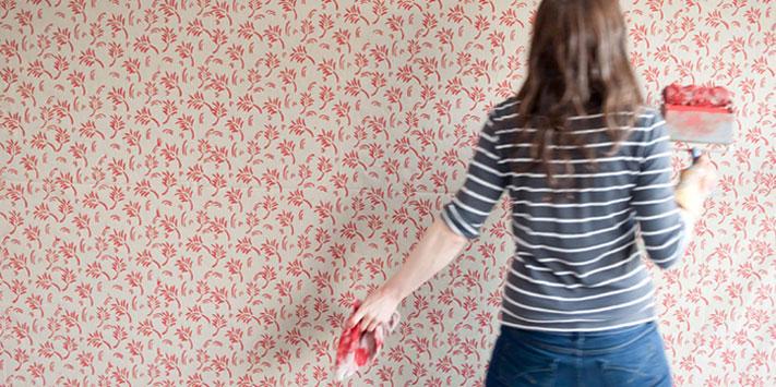 Hogar diez pinta tus paredes con rodillos de texturas - Pintar paredes con rodillo ...