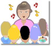 Ensinando  as crianças a louvar a Deus