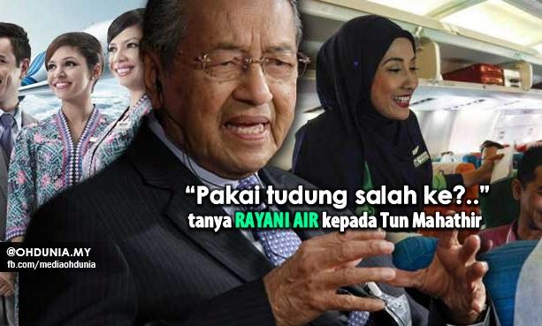 """""""Pakai Tudung Salah Ke?"""" Tanya Rayani Air Kepada Tun Mahathir"""