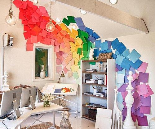 Decorating theme bedrooms Maries Manor rainbow wallpaper
