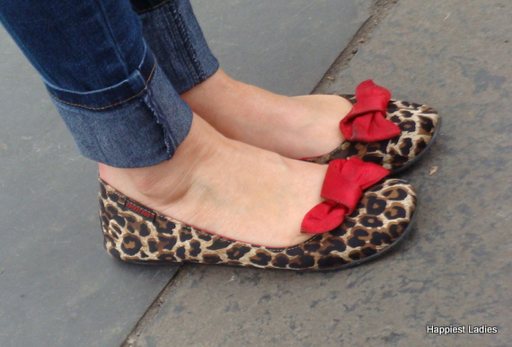 leopard print flat shoes