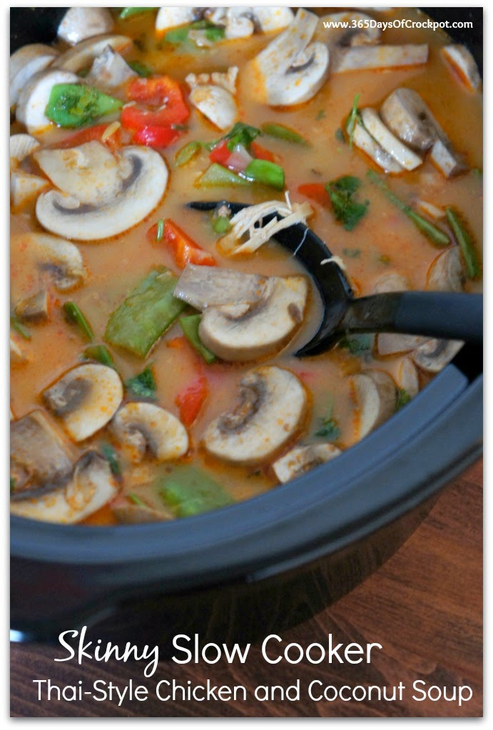 Skinny Slow Cooker Thai-Style Chicken and Coconut Soup (Plus Cookbook ...