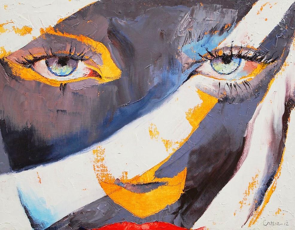 Óleo: Abstractos con Rostros Femeninos, Pinturas de Michael Creese