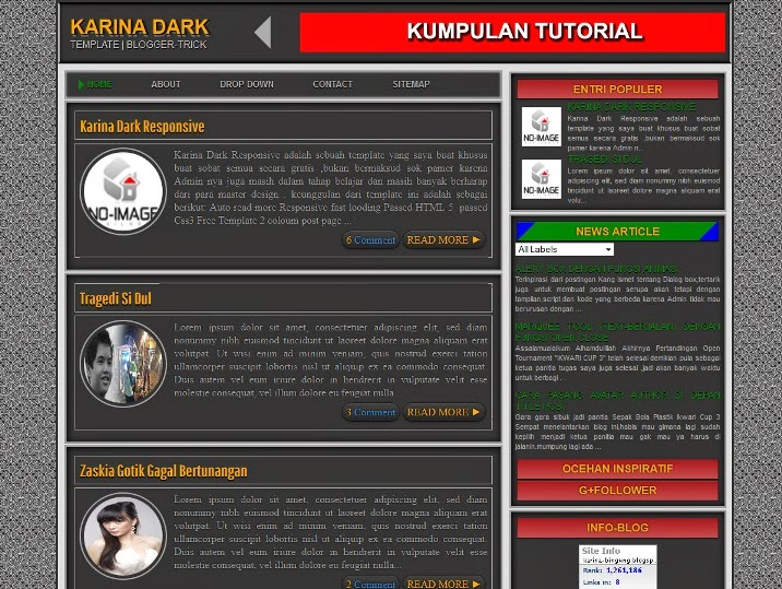 Karina-Dark v3 Responsive