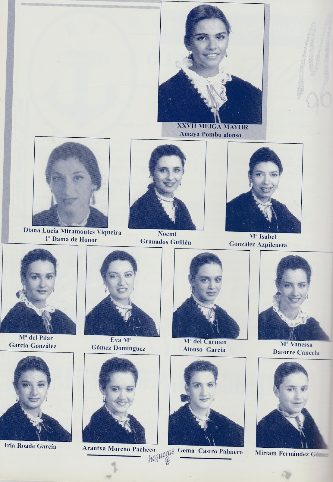 Meigas 1996 amaya pombo alonso xxvii meiga mayor - Maria del carmen castro ...