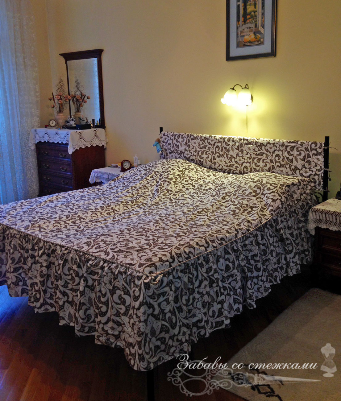 стёганое покрывало на кровать 2 на 2 метра
