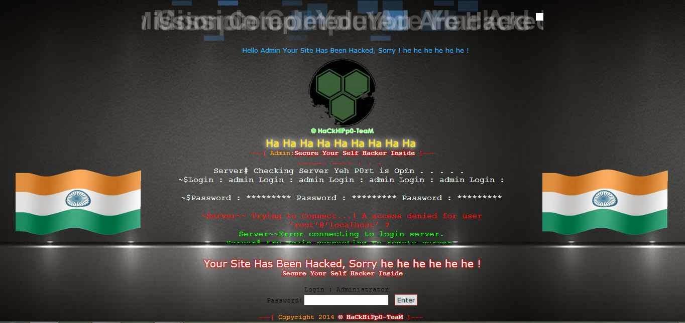 Website Deface Page