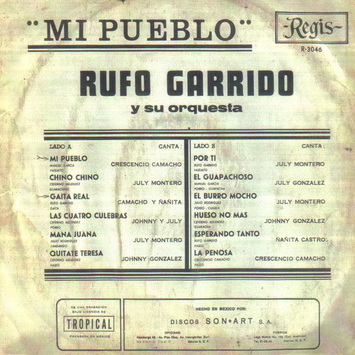 Musica de mi Colección MI PUEBLO ORQ RUFO GARRIDO