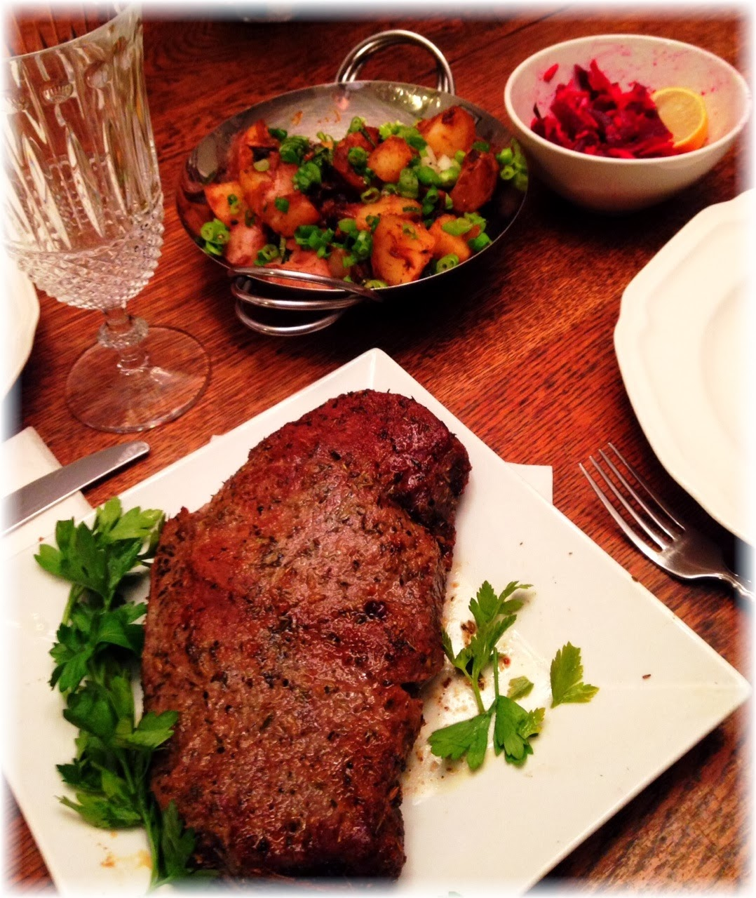 ... with Herb & Spice Rub, Savory Potatoes, and a Carrot & Beet Salad